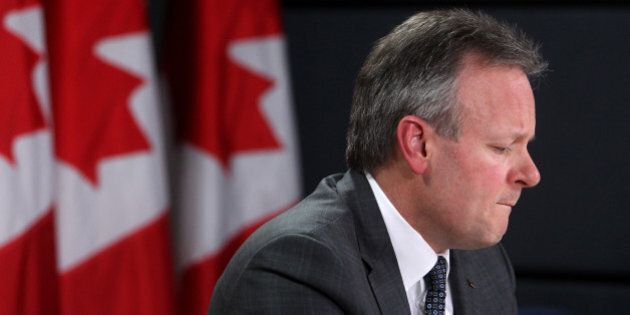 Stephen Poloz, governor of the Bank of Canada, speaks during a press conference in Ottawa, Ontario, Canada,...