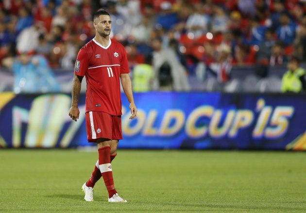 Marcus Haber during the 2015 CONCACAF Gold Cup Group B match between Canada and Costa Rica in July 2015...