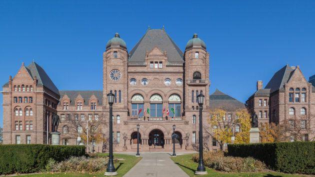 Ontario legislative building at Queen's Park, Toronto,