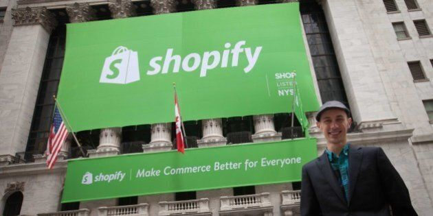 Shopify Execs Ring Wall Street Opening Bell, Watch Shares Soar In
