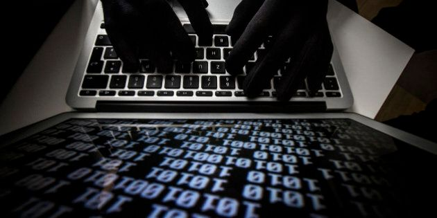 BERLIN, GERMANY - OCTOBER 22: Symbolic feature with topic online crime, data theft and piracy, here a...