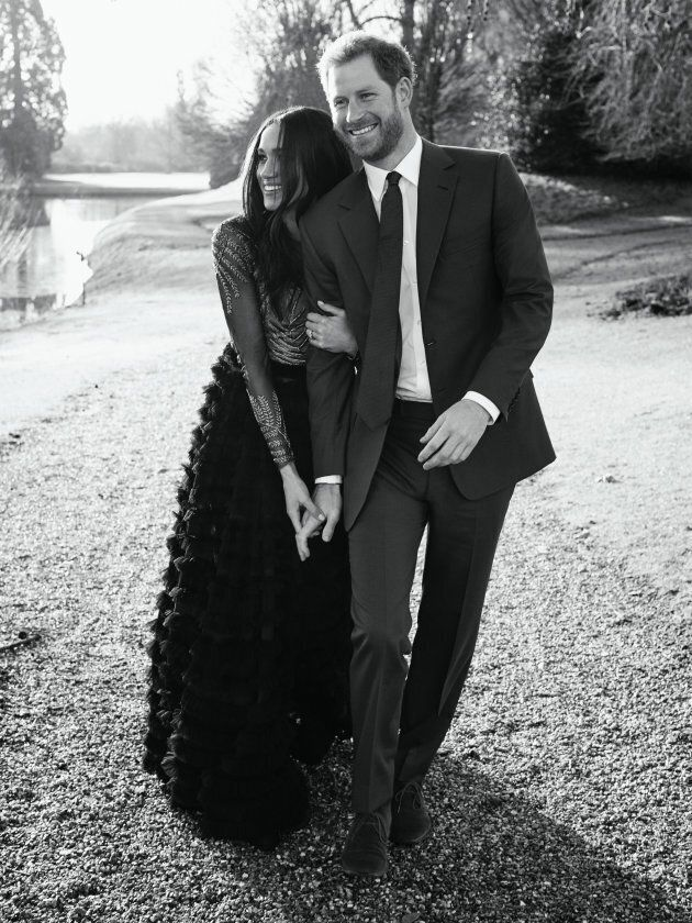 Prince Harry and Meghan Markle's official engagement photo.