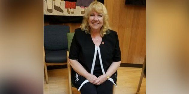 Sen. Lynn Beyak pictured during a meeting with the Sioux Lookout Mayor's Committee for Truth and Reconciliation on July 11, 2017.
