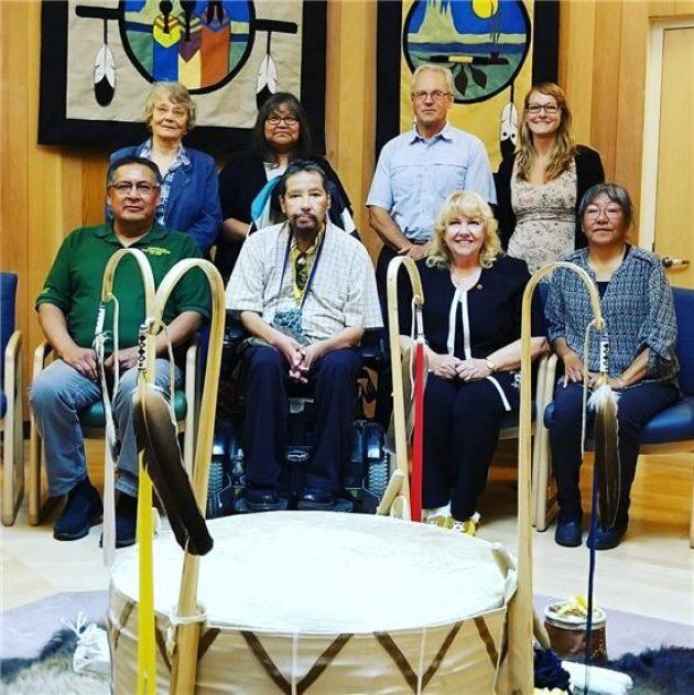 Sen. Lynn Beyak met with the Sioux Lookout Mayor's Committee for Truth and Reconciliation on July 11, 2017.