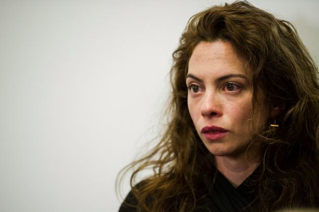 Plaintiff Hannah Miller was present at a press conference after filing a lawsuit alleging sexual harassment...