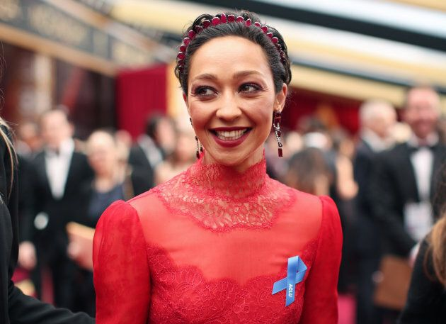 Actress Ruth Negga attends the 89th Annual Academy Awards on Feb. 26,