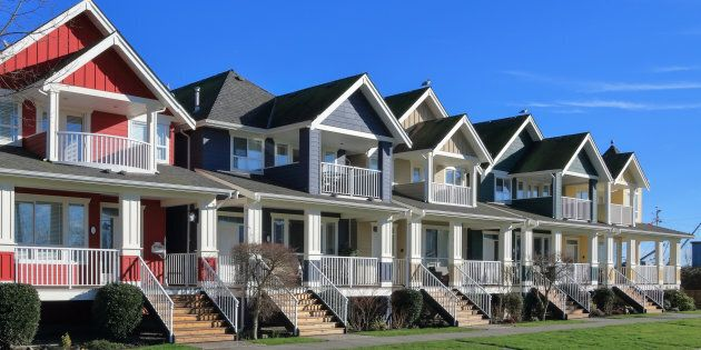 A row of a new houses in Richmond, British Columbia. An anti-corruption watchdog group says Statistics Canada