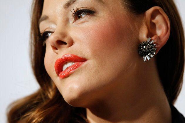 Actress Rose McGowan at the amfAR?s Inspiration LA Gala on Oct. 27,