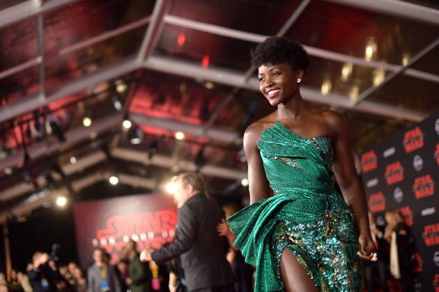 Lupita Nyong'o attends the premiere of Disney Pictures and Lucasfilm's 'Star Wars: The Last Jedi' on Dec. 9, 2017.