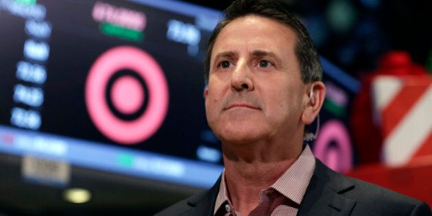 Target Corp. Chairman and CEO Brian Cornell is interviewed on the floor of the New York Stock Exchange, Friday, Nov. 28, 2014.  (AP Photo/Richard Drew)