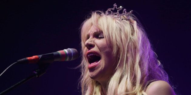 SYDNEY, AUSTRALIA - AUGUST 24: Courtney Love performs 'You Know My Name' tour at Enmore Theatre on August...