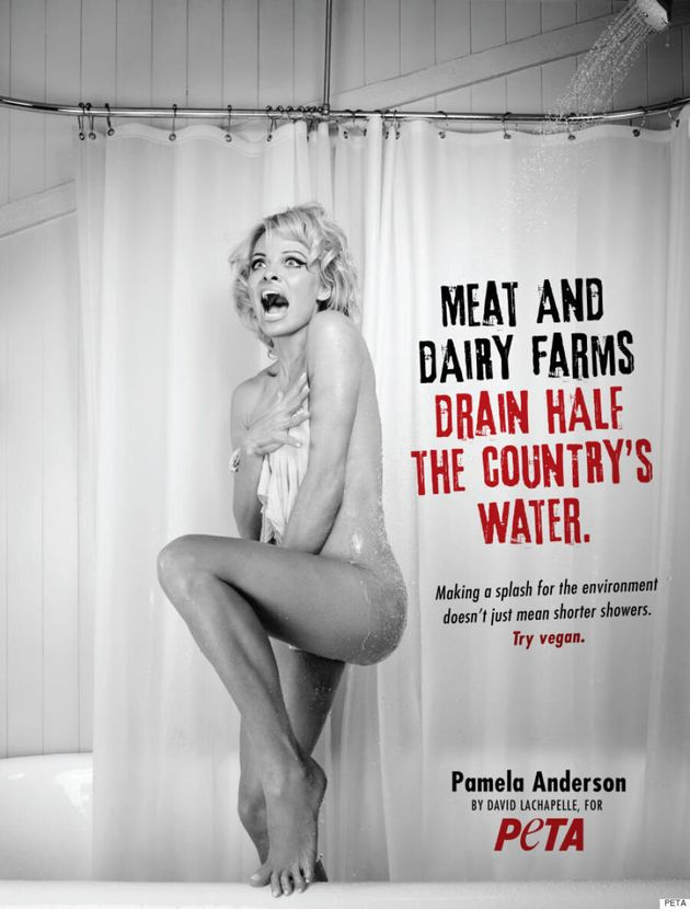 Pamela Anderson Strips Down For 'Psycho'-Inspired PETA