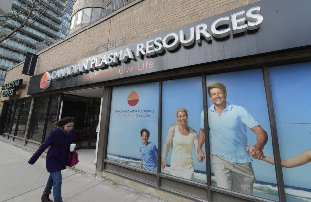A Canadian Plasma Resources clinic in downtown