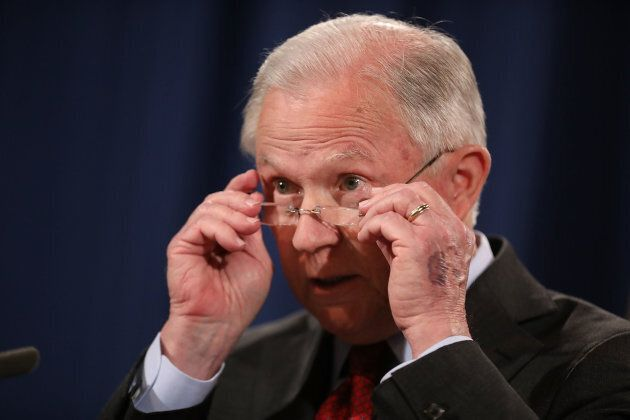 U.S. Attorney General Jeff Sessions holds a news conference at the Department of Justice on Dec. 15,