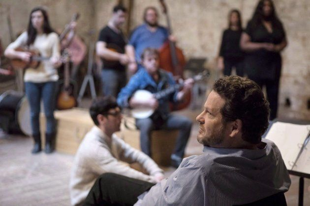 Director Albert Schultz oversees rehearsals for the production of