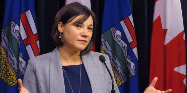 Alberta Environment Minister Shannon Phillips announces details of a bill introduced in the legislature...