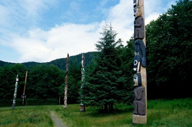 Totem in the Pacific Rim National Park Reserve, in