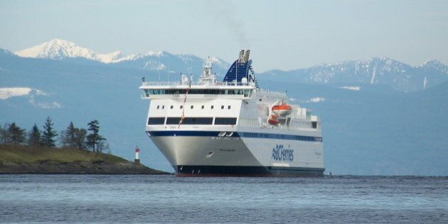 New BC Ferry Northern Expedition arrival in Nanaimo after delivery trip from Germany. March 6,