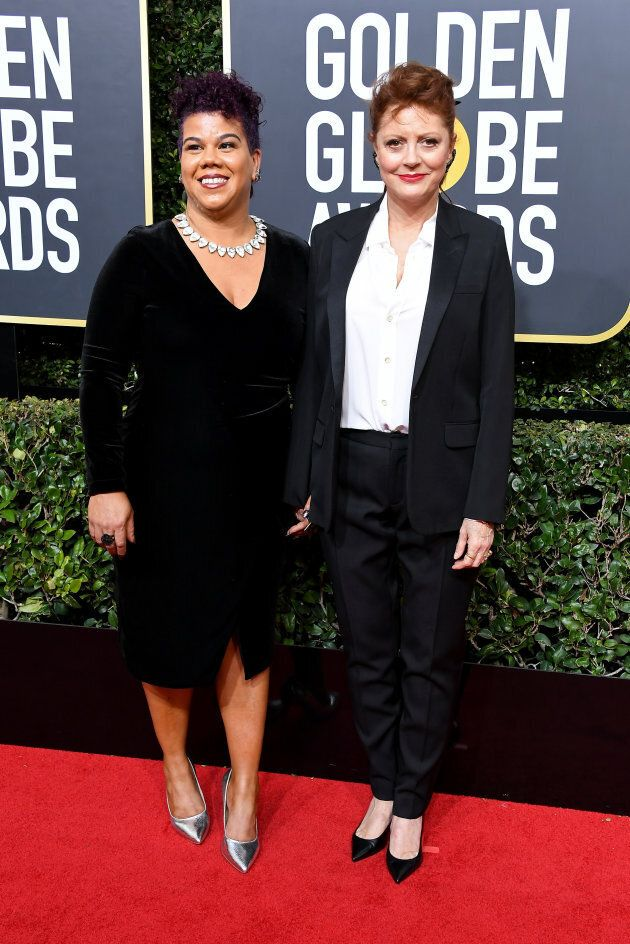 Susan Sarandon and activist Rosa Clemente attend The 75th Annual Golden Globe