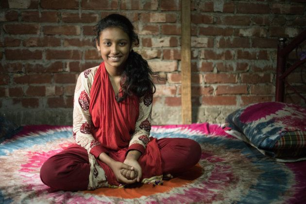 Barsha, 14, is general secretary of a children's group that aims to build safer