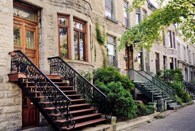 Rowhouses in Montreal's Plateau Mont-Royal