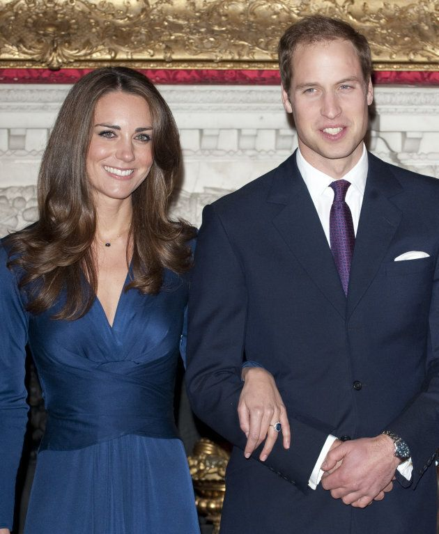 Prince William and Kate Middleton during a photocall to announce their engagement.