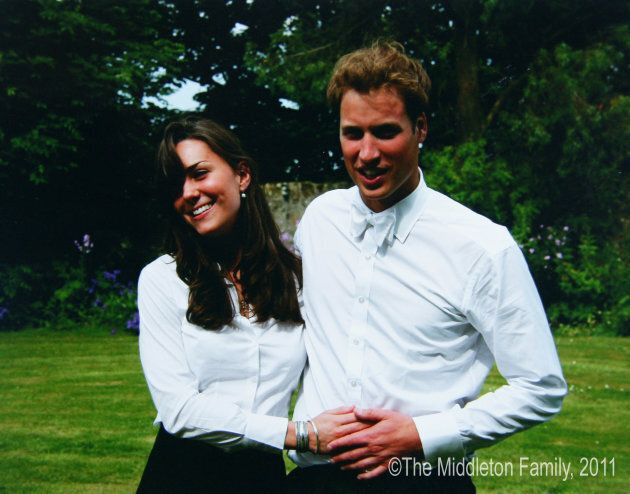 Kate Middleton and Prince William on the day of their graduation ceremony at University of St Andrew's on June 23, 2005.