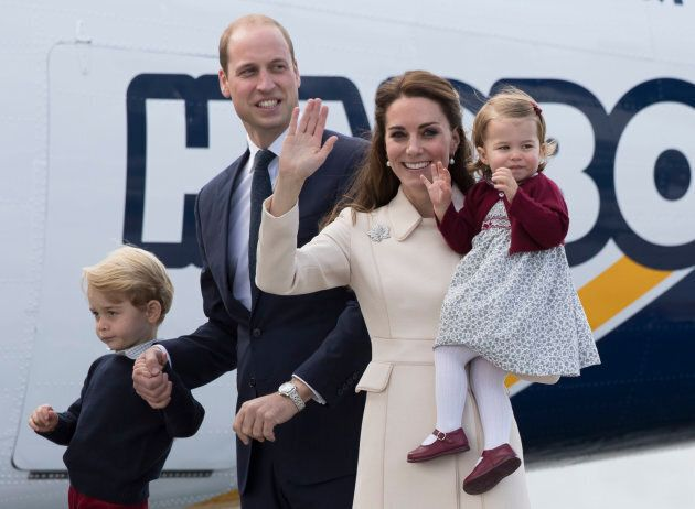 The family on the final day of their Royal Tour of Canada on Oct. 1, 2016 in Victoria.