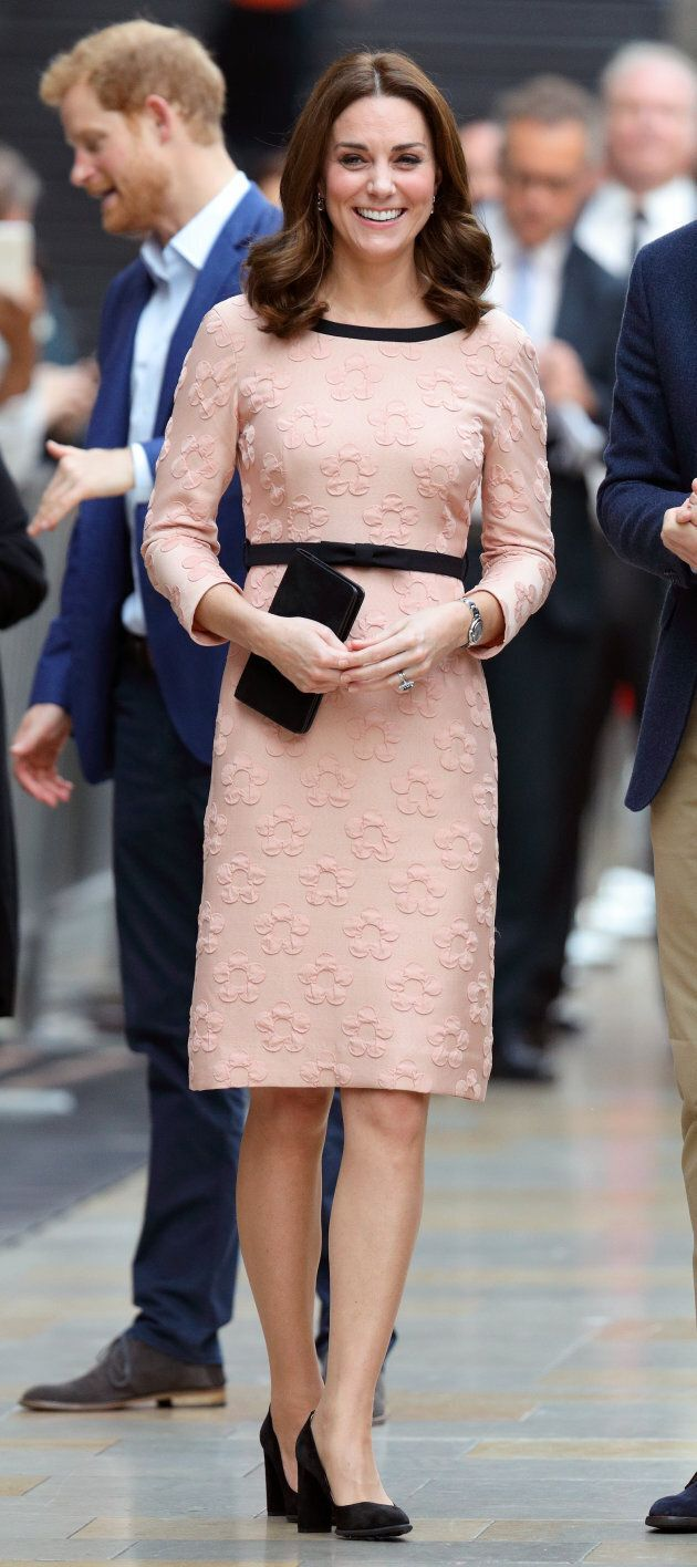Catherine, Duchess of Cambridge attends the Charities Forum Event at Paddington Station on Oct. 16, 2017.