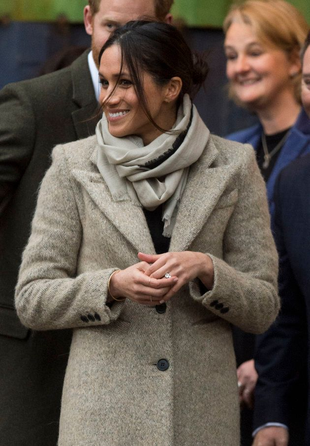 Meghan Markle visits Reprezent 107.3FM on Jan. 9, in