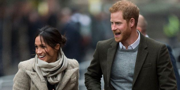 Prince Harry and Meghan Markle visit Reprezent 107.3FM on Jan. 9, in