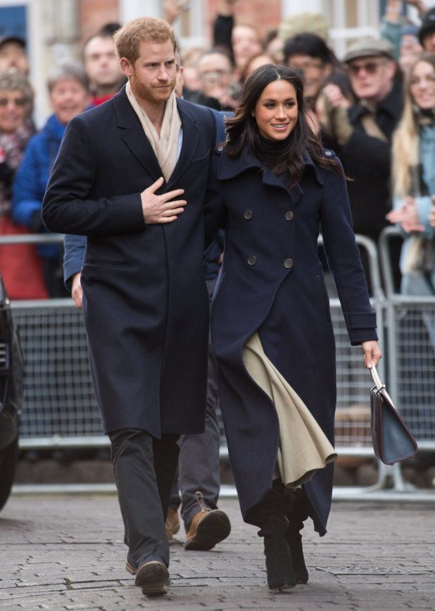 Prince Harry and Meghan Markle at Nottingham Contemporary on Dec. 1, 2017 in Nottingham, England.