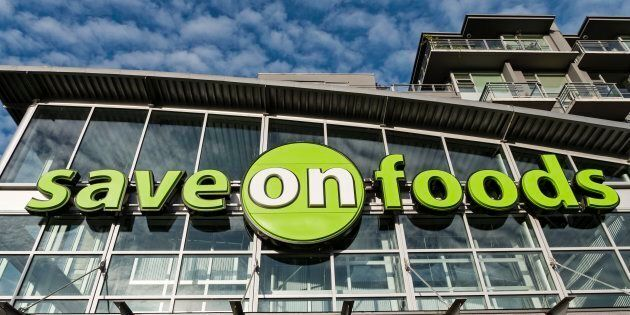 A Save-On-Foods sign on Cambie Street in Vancouver, June 17, 2015. The grocery chain is offering a $25...