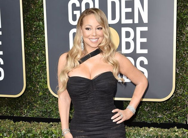 Mariah Carey at the 2018 Golden Globe Awards.