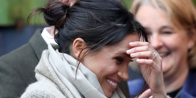 15a45ee40b7 Meghan Markle's 'Unconventional' Hairstyle Raises Eyebrows Among ...