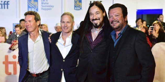 The Tragically Hip (from left: Gord Sinclair, Johnny Fay, Rob Baker and Paul Langlois) arrive on the...