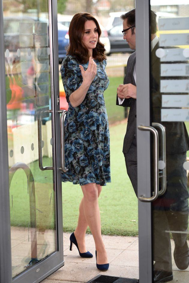 The duchess during her visit to the Reach Academy