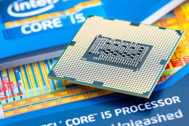 An Intel processor core.