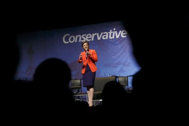 Kellie Leitch, then a Conservative Party leadership candidate, speaks during the final Conservative Party...