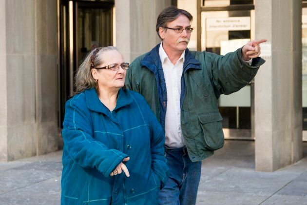 Maria Willett, left, and Gary Willett Sr. are accused of assaulting a homeless man, stealing his disability...