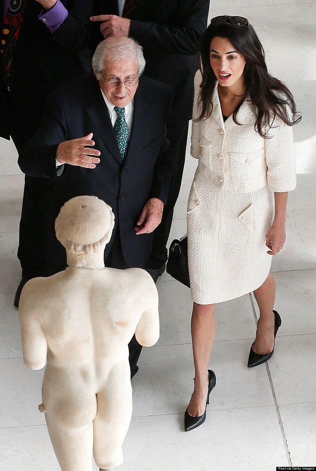 Amal Clooney Channels Jackie O In Cream