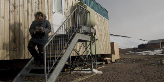 IVUJIVIK, CANADA - JUNE 2 : Laurent Bisbrouck exits his house on June 2, 2008 in Ivujivik, Canada. Bisbrouck...