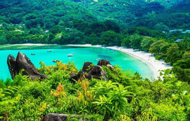 A beach in Seychelles.