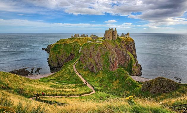 Dunnottar Castle in Aberdeenshire, Scotland.