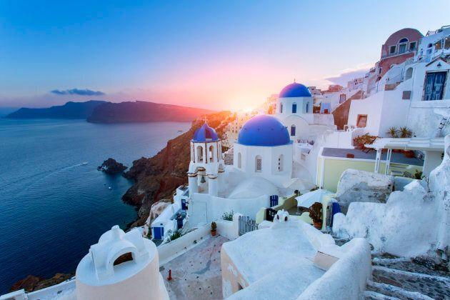 Greek island of Santorini.