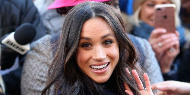 Meghan Markle attends the Terrance Higgins Trust World AIDS Day charity fair at Nottingham Contemporary on Dec. 1, 2017.
