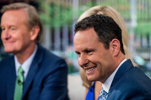 Fox News host Brian Kilmeade shoots 'Fox & Friends' at FOX Studios on May 5, 2016 in New York