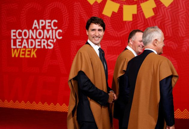 Prime Minister Justin Trudeau at the APEC Summit in Lima, Peru, on Nov. 20,