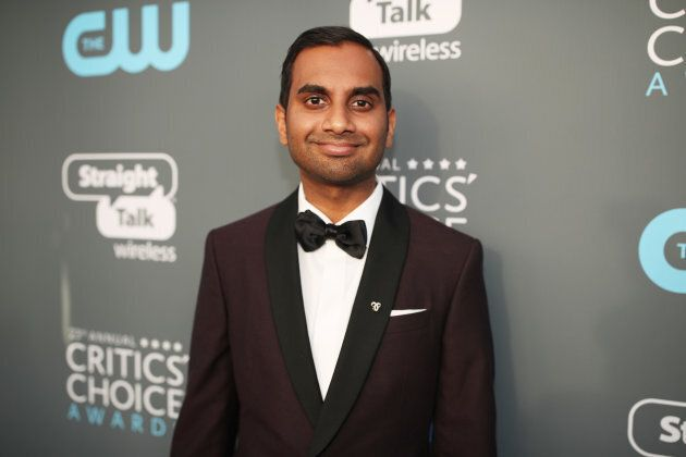 Actor Aziz Ansari attends The 23rd Annual Critics' Choice Awards at Barker Hangar on Jan.11, 2018 in...