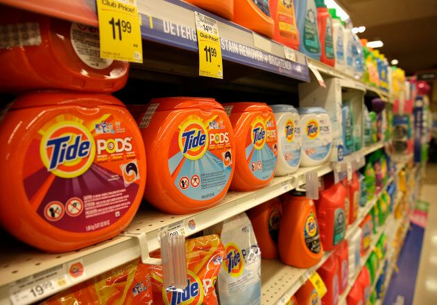 Tide detergent pods, from Procter & Gamble, are seen at a Safeway store in Wheaton, Maryland on Feb....
